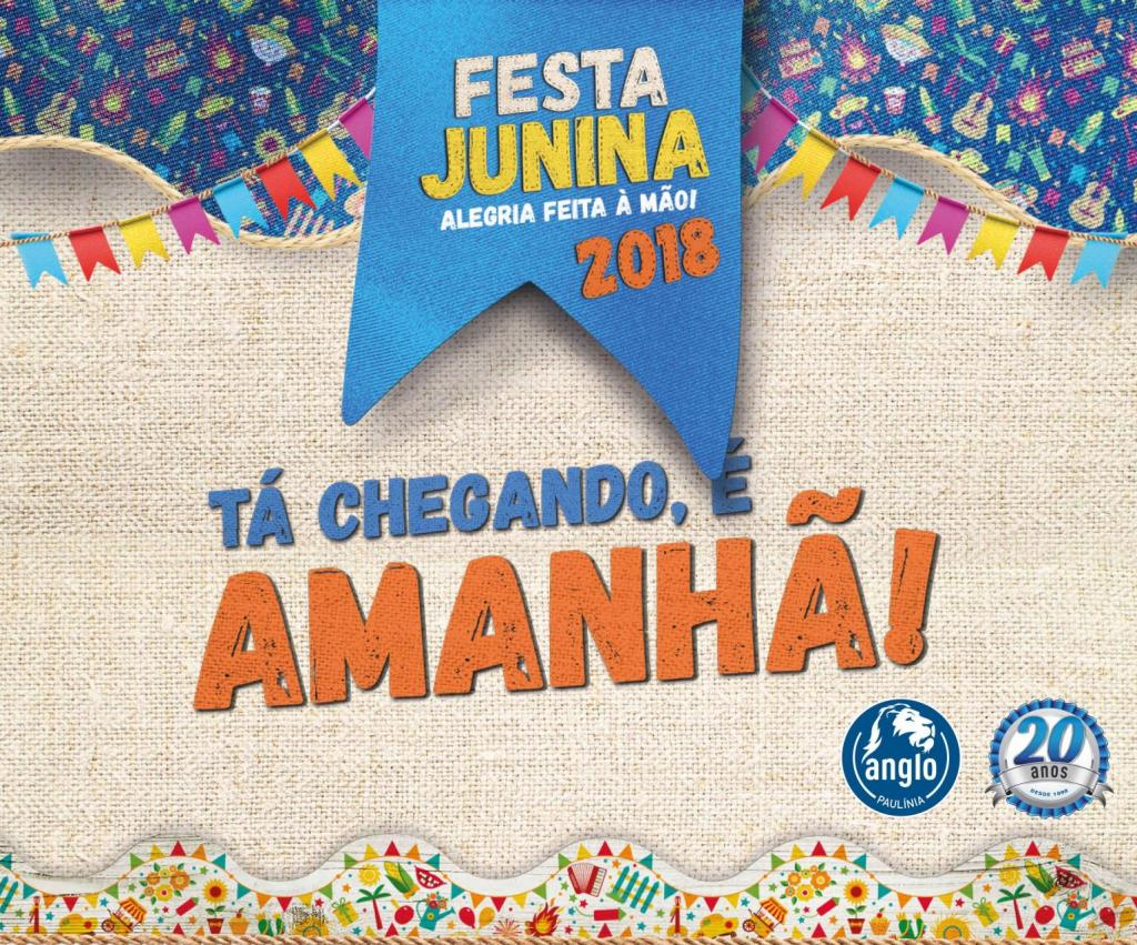 Post Face Festa Junina 18 E Amanha